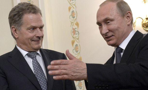 Sauli Niinistö ja Vladimir Putin tapaavat ensi tiistaina Moskovassa. Presidentit tapasivat viimeksi kesäkuussa.