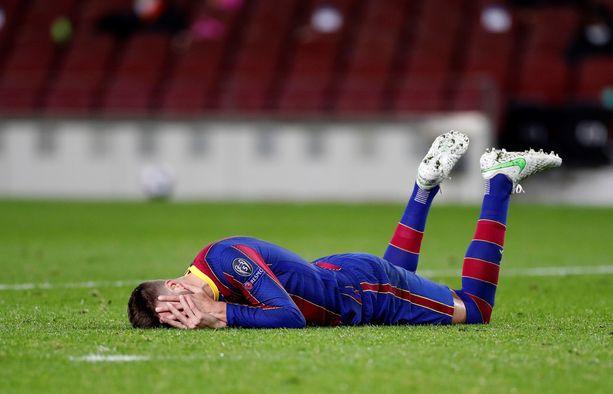 Gerard Piquén paluu Barcelonan vahvuuteen ei sujunut suunnitelmien mukaan.