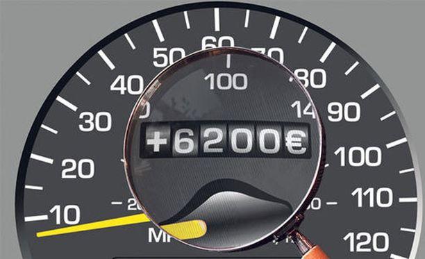 Parempi myyntihinta käytetystä autosta houkuttaa ruuvaamaan mittaria.