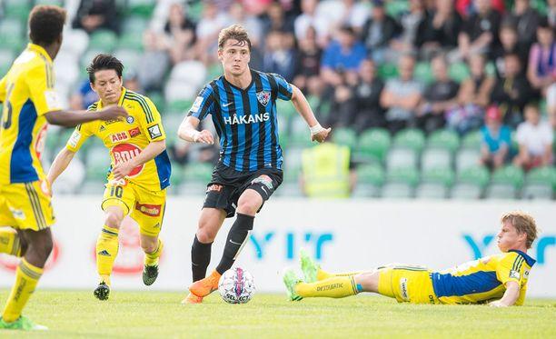 Kaan Kairinen on tehnyt läpimurtonsa Veikkausliigassa tällä kaudella. Inter on Veikkausliigassa neljäntenä.