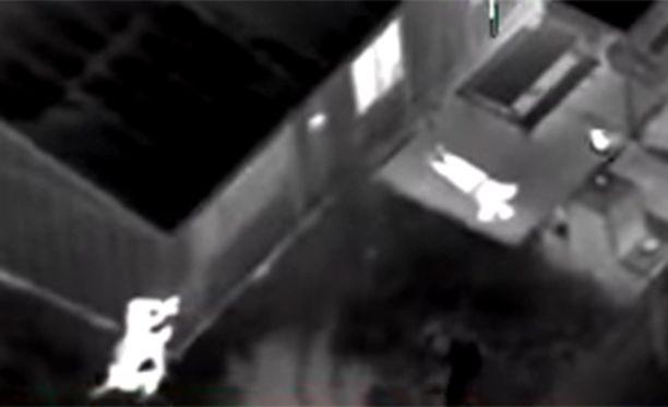 Ampuminen tallentui myös helikopterista kuvatulle videolle.