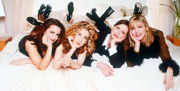 Sinkkuelämää-nelikko eli Charlotte, Carrie, Miranda ja Samantha.