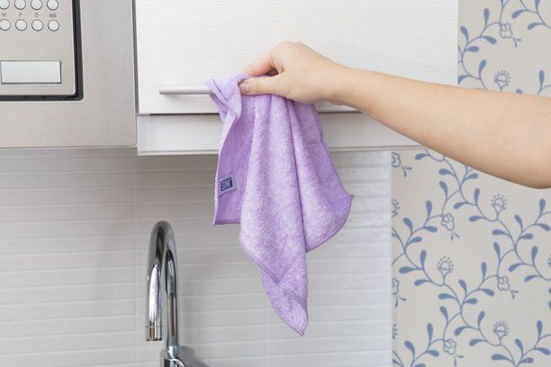 SINI-mikrokuituliinalla kodin yleisimmät kosketuspinnat on helppo puhdistaa tehokkaasti.