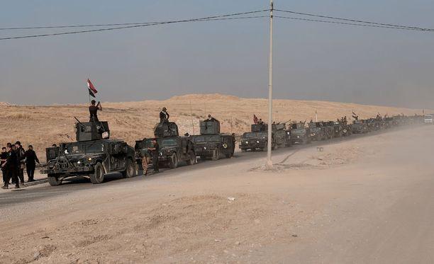 Irak ilmoitti maanantaina aloittaneensa operaation Mosulin valtaamiseksi takaisin Isisiltä.