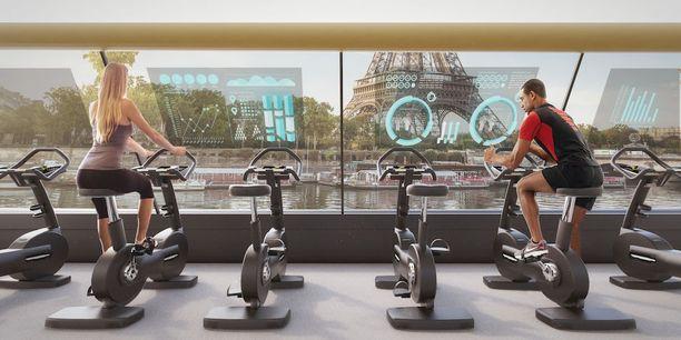 Näytöillä kerrottaisiin tietoja polkemalla syntyneestä energiasta sekä Seine-joen tilasta.