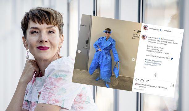 Maria Veitolan Masked Singer Suomi -asu herättää somessa ihastusta.