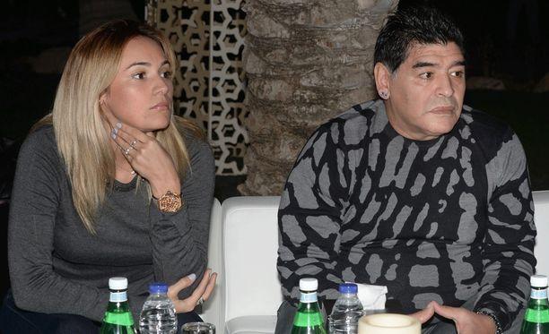 Rocio Oliva ja Diego Maradona ovat Madridissa.