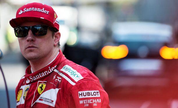 Kimi Räikkönen ei pysynyt tallikaverinsa vauhdissa Monacon GP:ssä.