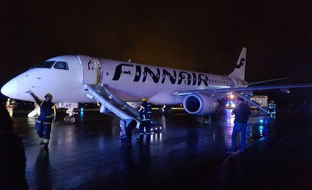 Finnairin kone teki hätälaskun Turkuun.