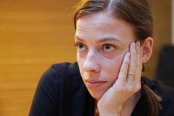 Kuvassa Li Andersson vuonna 2017.