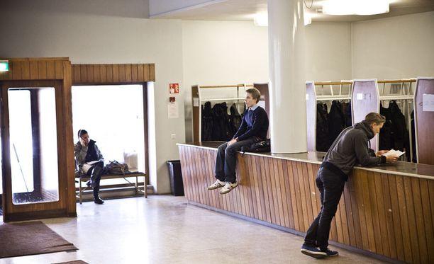 Helsingin kauppakorkeakoulun aula.