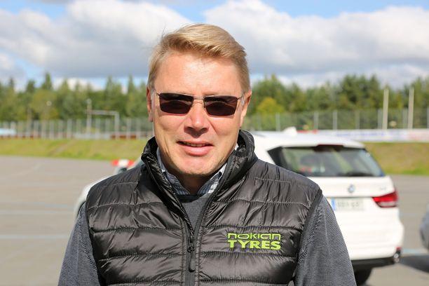 Mika Häkkinen viihtyy Lapissa.