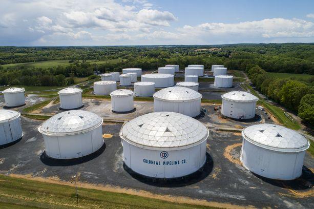 Colonial Pipeline -yhtiön polttoainesäiliöitä Marylandissa.