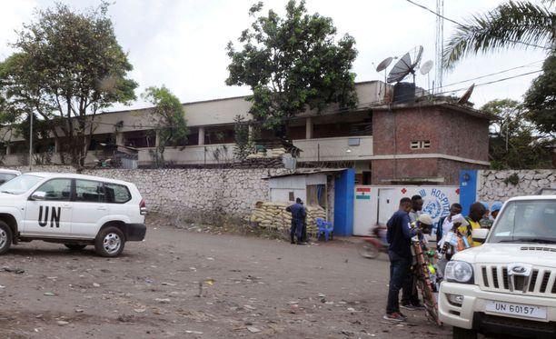 YK:n sairaala Pohjois-Kivun pääkaupungissa Gomassa arkistokuvassa.