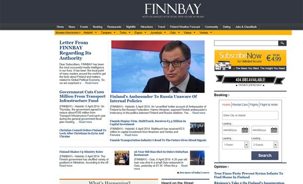 Finnbay-sivuston aitoutta on epäilty.