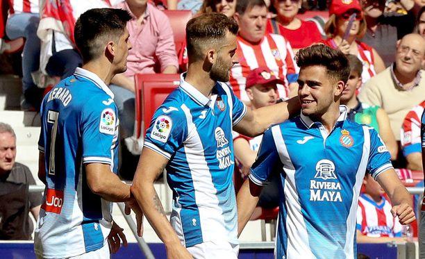 Espanyol juhli 2-0-voittoa Wanda Metropolitanolla.
