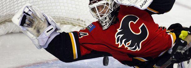 Miikka Kiprusoff on torjunut Flamesin maalilla vuodesta 2005.