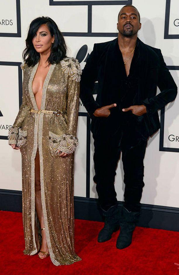 Kanye West ja Kim Kardashian menivät naimisiin vuonna 2014.