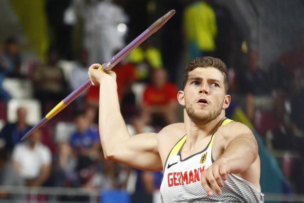 Andreas Hofmannin 80,06 ei riittänyt keihäsfinaalin.