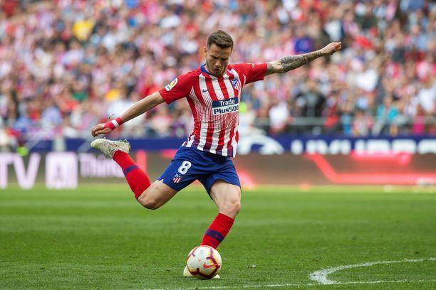 Atlético Madridin keskikenttämies Saúl Níguez iski ottelun ainoan maalin lauantain.