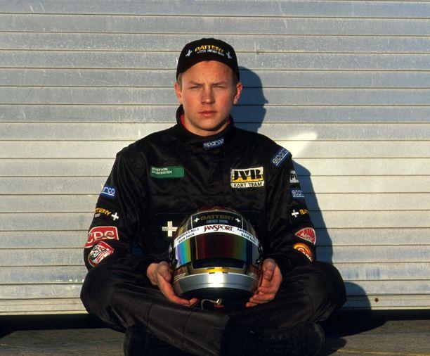 Kimi Räikkönen Donington Parkissa vuonna 1998.