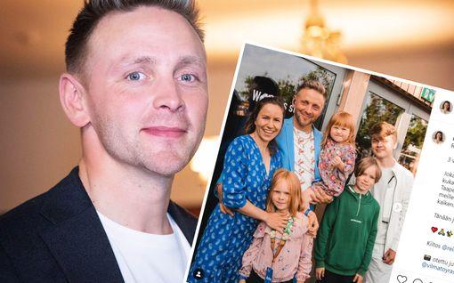 Reino Nordinin vanhinta poikaa ei ole nähty ennen julkisuudessa –  esiintyy nyt harvinaisessa perhekuvassa