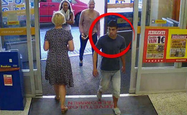 Poliisi etsii varkaudesta epäiltyä miestä.
