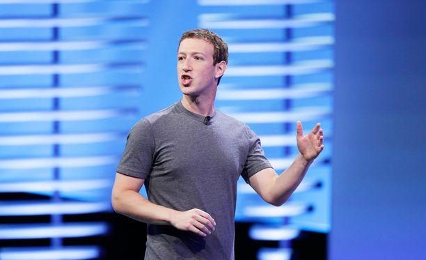 Mark Zuckerberg Facebookin F8-tapahtumassa huhtikuussa.