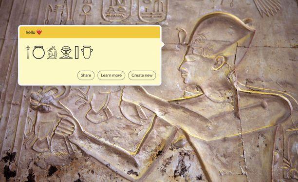 Työkalu kääntää tekstin reaaliajassa hieroglyfeiksi.