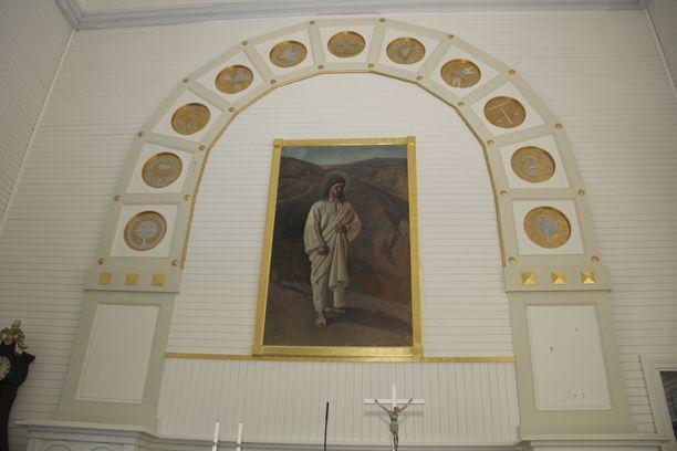Suomen kuvataiteen kultakauden mestarit innostuivat kirkkotaiteesta. Vilppulan kirkon alttaritaulun on maalannut Pekka Halonen.