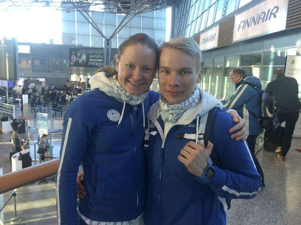 Johanna Matintalo ja Lauri Vuorinen debytoivat olympialaisissa Pyeongchangissa.