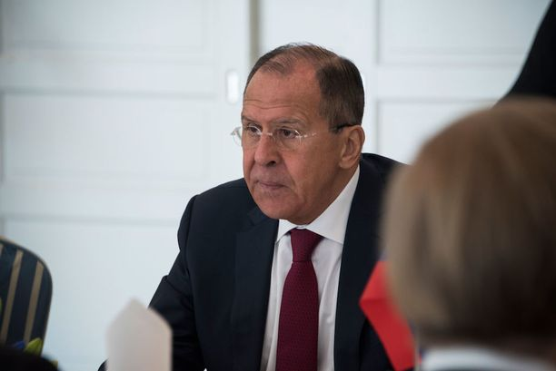 Venäjän ulkoministeri Sergei Lavrov Haikon kartanossa torstaina.