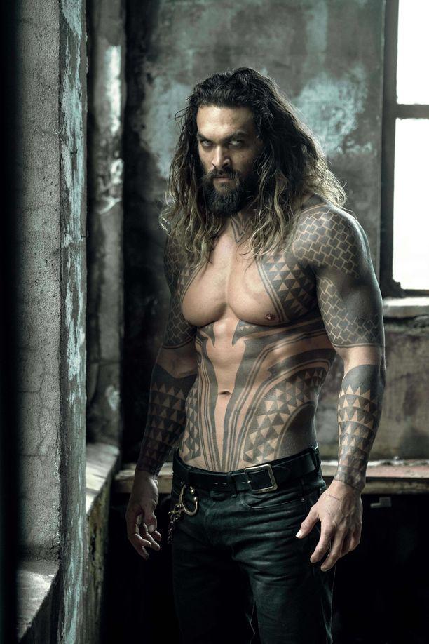 Jason Momoa Aquaman-elokuvassa.