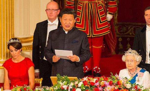 Kiinan presidentti Xi Jinping vieraili Britanniassa marraskuussa 2015.