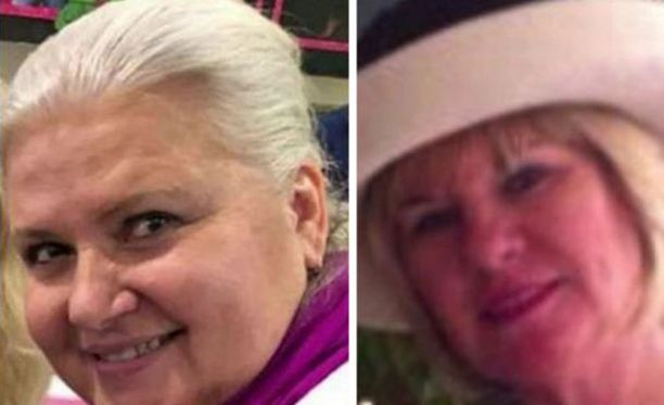 Vasemmalla Lois Reiss, oikealla Pamela Hutchinson, joka muistuttaa murhaajaansa.