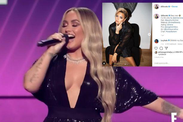 Demi Lovato juonsi People's Choice Awards -gaalan 15. marraskuuta, jolloin hänet nähtiin viimeistä kertaa pitkissä kutreissaan.