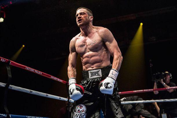 Southpaw-leffa tulee ensi-iltaan Suomessa elokuussa. Jake Gyllenhaal näyttelee siinä nyrkkeilijää.