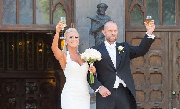 Jere ja Nanna Karalahti avioituivat vuonna 2015.