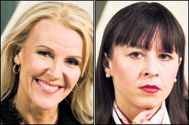MOITTI. Heidi Luumin (vas.) mielestä naisten ryhmän johtaja Katariina Taimi teki alkeellisimmat virheet.