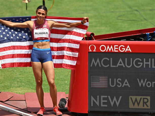 Sydney McLaughlin tek ME:n ja nappasi olympiakultaa.