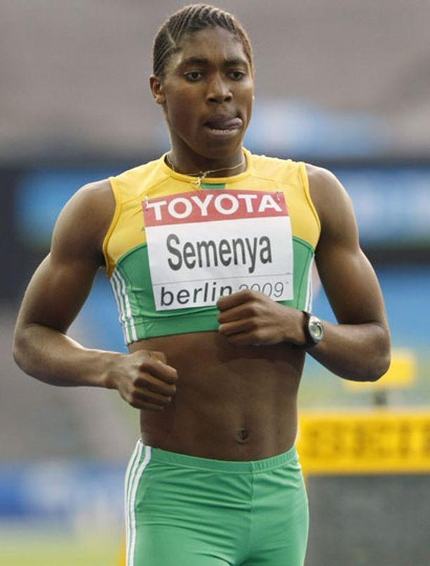 Caster Semenyalla on jykevä kroppa.