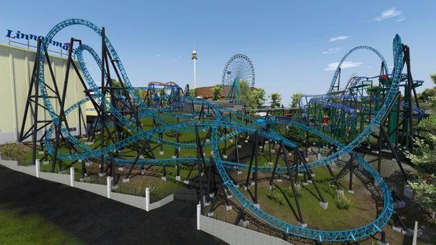 Tämä on havainnekuva Taiga-huvipuistolaitteesta, joka on määrä avata kävijöille kesäkaudelle 2019.