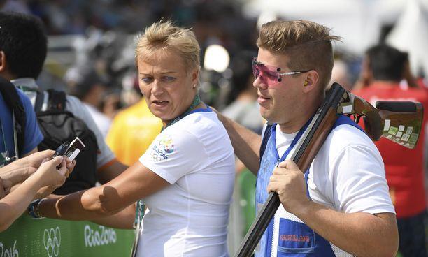 Satu Mäkelä-Nummela ja Vesa Törnroos olivat Suomen olympiajoukkueessa Riossa.