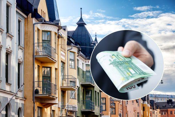 Arvoalueella Helsingin Ullanlinnassa yksiön keskimääräinen neliövuokra on 28,4 euroa kuukaudessa.