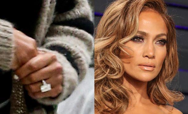 Jennifer Lopezin kihlasormus on noin neljän miljoonan euron arvoinen.