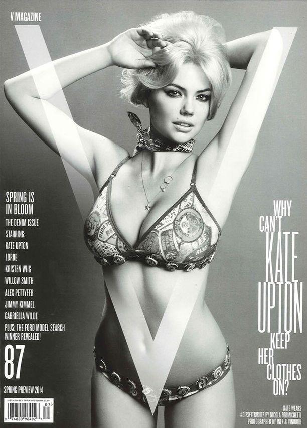 Kate Uptonilla eivät vaatteet pysy päällä, vihjaa kansitekstikin.