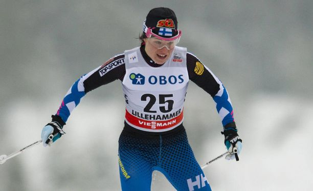 Krista Pärmäkoski venyi neljänneksi sprintissä.
