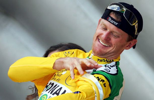 Floyd Landisin hymy oli herkässä Tour de Francen toiseksi viimeisen etapin jälkeen.