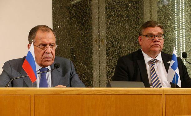 Venäjän ulkoministeri Sergei Lavrov ja Suomen ulkoministeri Timo Soini keskustelivat Oulussa keskiviikkona