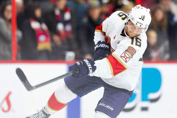 Aleksander Barkov toimii Floridan Panthersin kapteenina.